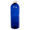 32 oz. Cobalt Blue PET Cosmo Round Bottle with CRC 28/410 Cap
