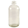 8 oz. Clear Glass Boston Round Bottle with 24/400 Neck (Cap Sold Separately)