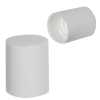 20/415 White Polypropylene Smooth Cap with F217 Liner