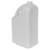 128 oz. White HDPE PCR Slant Handle Jug with 38/400 Neck (Cap Sold Separately)