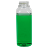 12 oz. Clear PET French Square Bottle with 38/400 Neck (Cap Sold Separately)