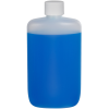 8 oz. Natural HDPE Oval Bottle with 24/410 Plain Cap with F217 Liner