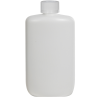 8 oz. White HDPE Oval Bottle with 24/410 CRC Cap