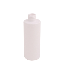 4 oz. White PET Cylinder Bottle with 20/410 Neck (Cap Sold Separately)