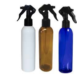 Bullet Spray Bottles with Black Micro Sprayers