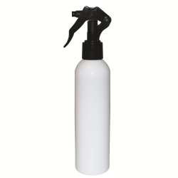 8 oz. White Bullet Spray Bottle with Black Micro Sprayer