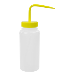 500mL Scienceware® Wide Mouth Wash Bottle with 53mm Yellow Cap