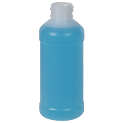 4 oz. Translucent Modern Round Bottle with 28/410 Neck (Cap Sold Separately)
