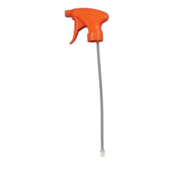 "28/400 Orange Contour® Sprayer with 8-1/8"" Dip Tube (Bottle Sold Separately)"