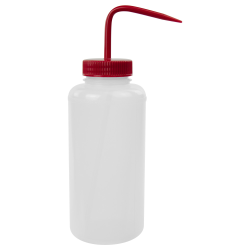 1000mL Wide Mouth Wash Bottle with 53mm Red Cap