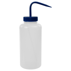 1000mL Wide Mouth Wash Bottle with 53mm Blue Cap