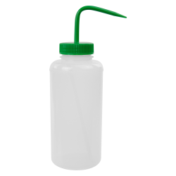 1000mL Wide Mouth Wash Bottle with 53mm Green Cap