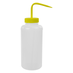 1000mL Wide Mouth Wash Bottle with 53mm Yellow Cap