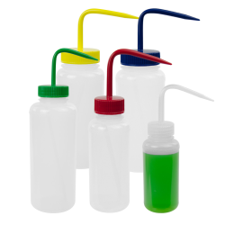 Scienceware® Wide Mouth Color Coded Wash Bottles