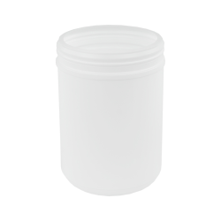 70 oz. White Snap Top Towel Wipe Canister with 120mm Neck (Cap Sold Separately)