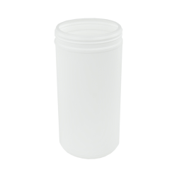 100 oz. White Snap Top Towel Wipe Canister with 120mm Neck (Cap Sold Separately)