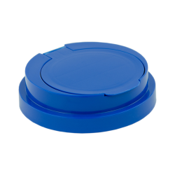 83mm Snap Top Cap for Towel Wipe Canister- Blue