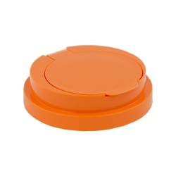 83mm Snap Top Cap for Towel Wipe Canister- Orange