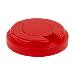 120mm Snap Top Cap for Towel Wipe Canister- Red