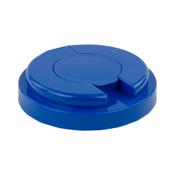 120mm Snap Top Cap for Towel Wipe Canister- Blue