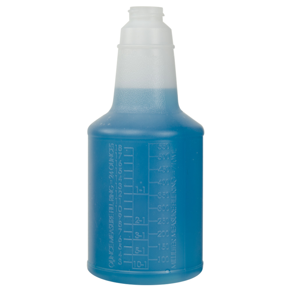 24 oz. Contour® Graduated Bottle with Anti-Backoff (Sprayer or Cap Sold Separately)