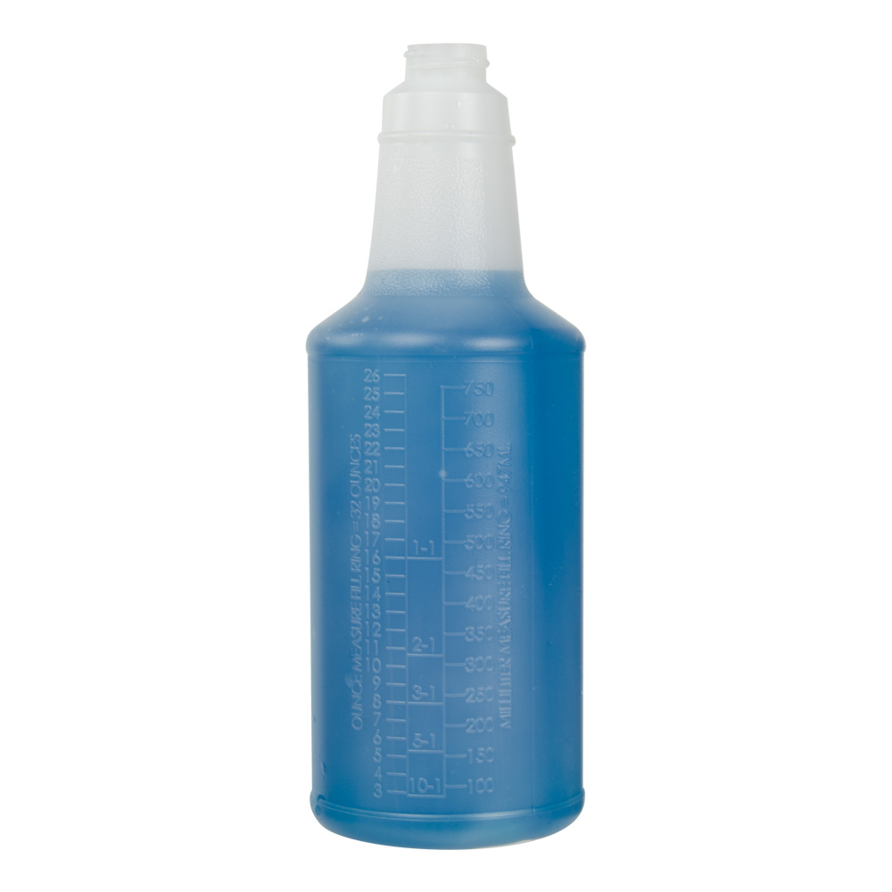 32 oz. Contour® Graduated Bottle with Anti-Backoff 28/400 Neck (Sprayer or Cap Sold Separately)