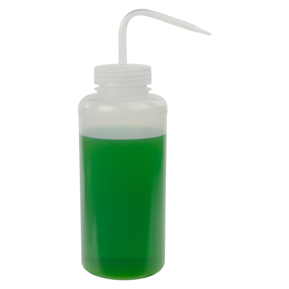 1000mL Scienceware® Wide Mouth Wash Bottle with 53mm Natural Cap