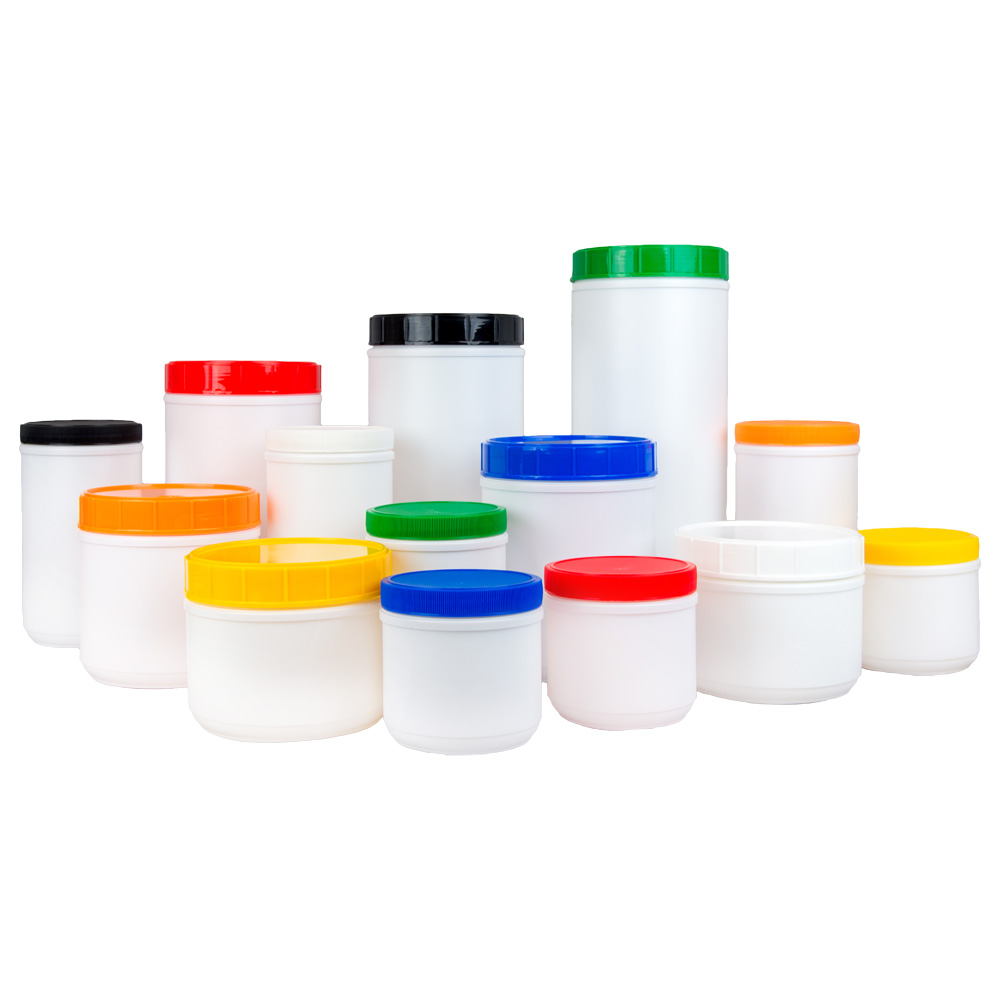 White Canisters & Colored Lids