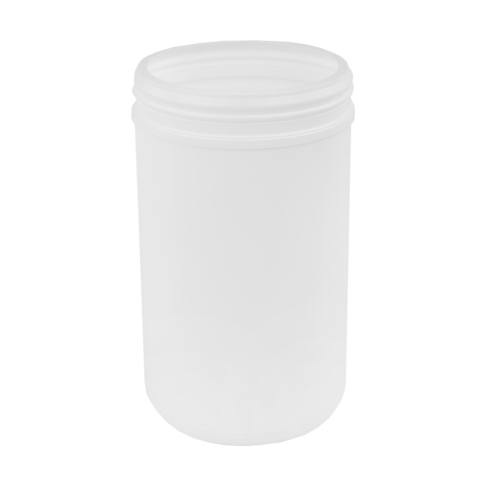 85 oz. White Snap Top Towel Wipe Canister with 120mm Neck (Cap Sold Separately)