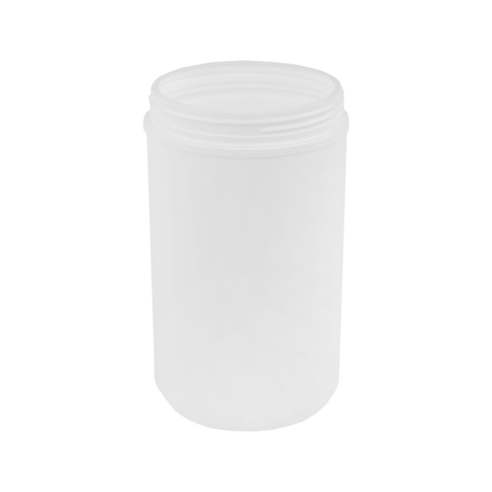 85 oz. White Threaded Towel Wipe Canister with 120mm Neck (Cap Sold Separately)
