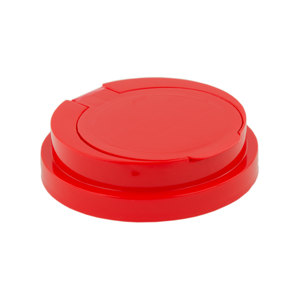83mm Snap Top Cap for Towel Wipe Canister- Red