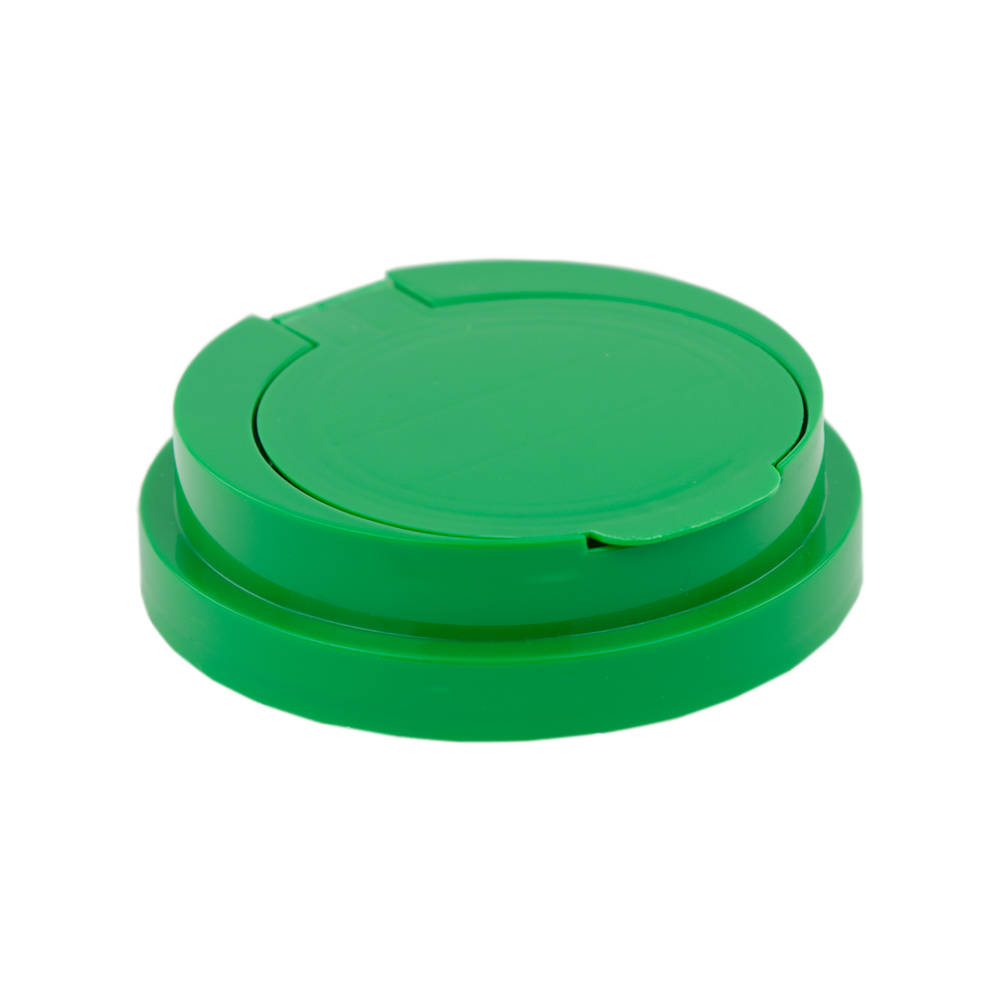 83mm Snap Top Cap for Towel Wipe Canister- Green