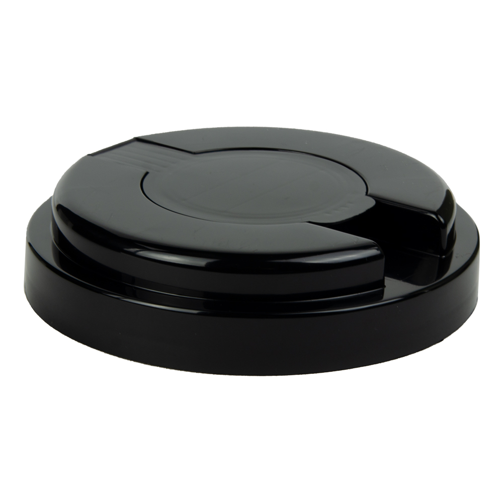 120mm Snap Top Cap for Towel Wipe Canister- Black