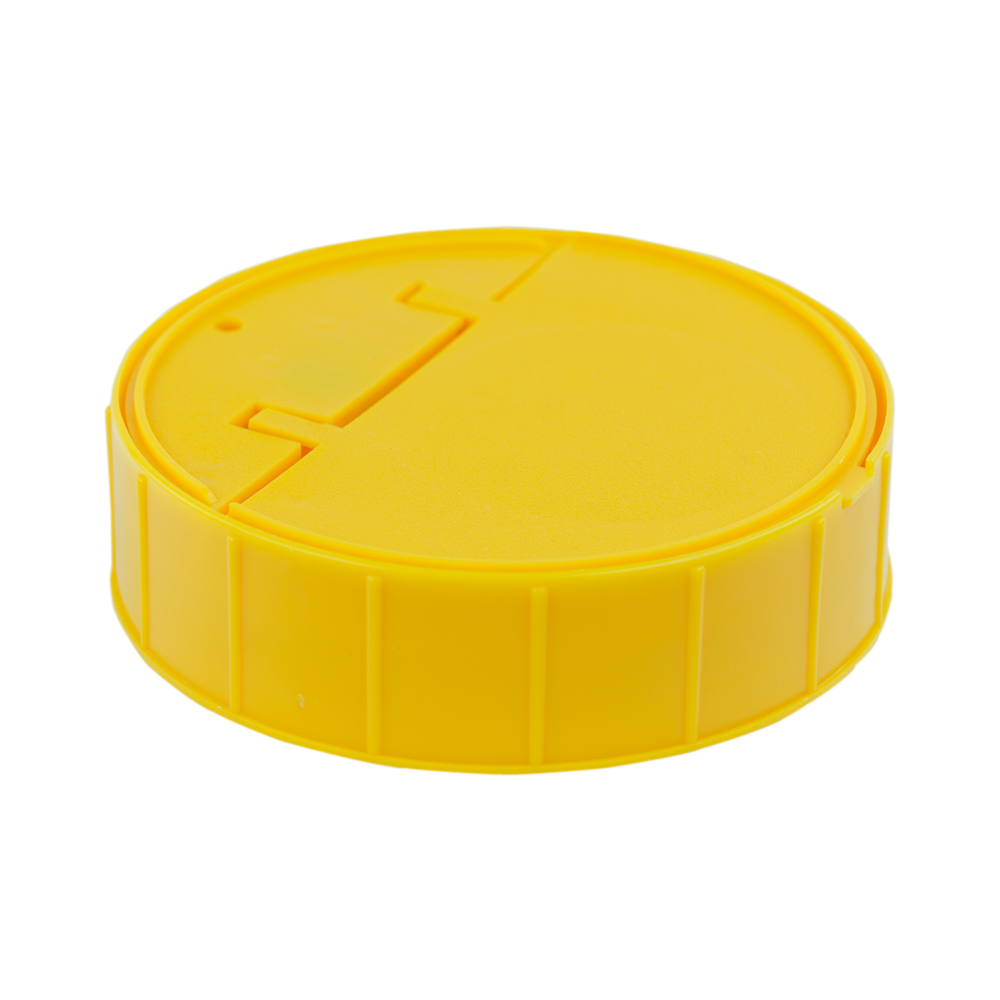 120mm Threaded Cap with Spring for Towel Wipe Canister- Yellow