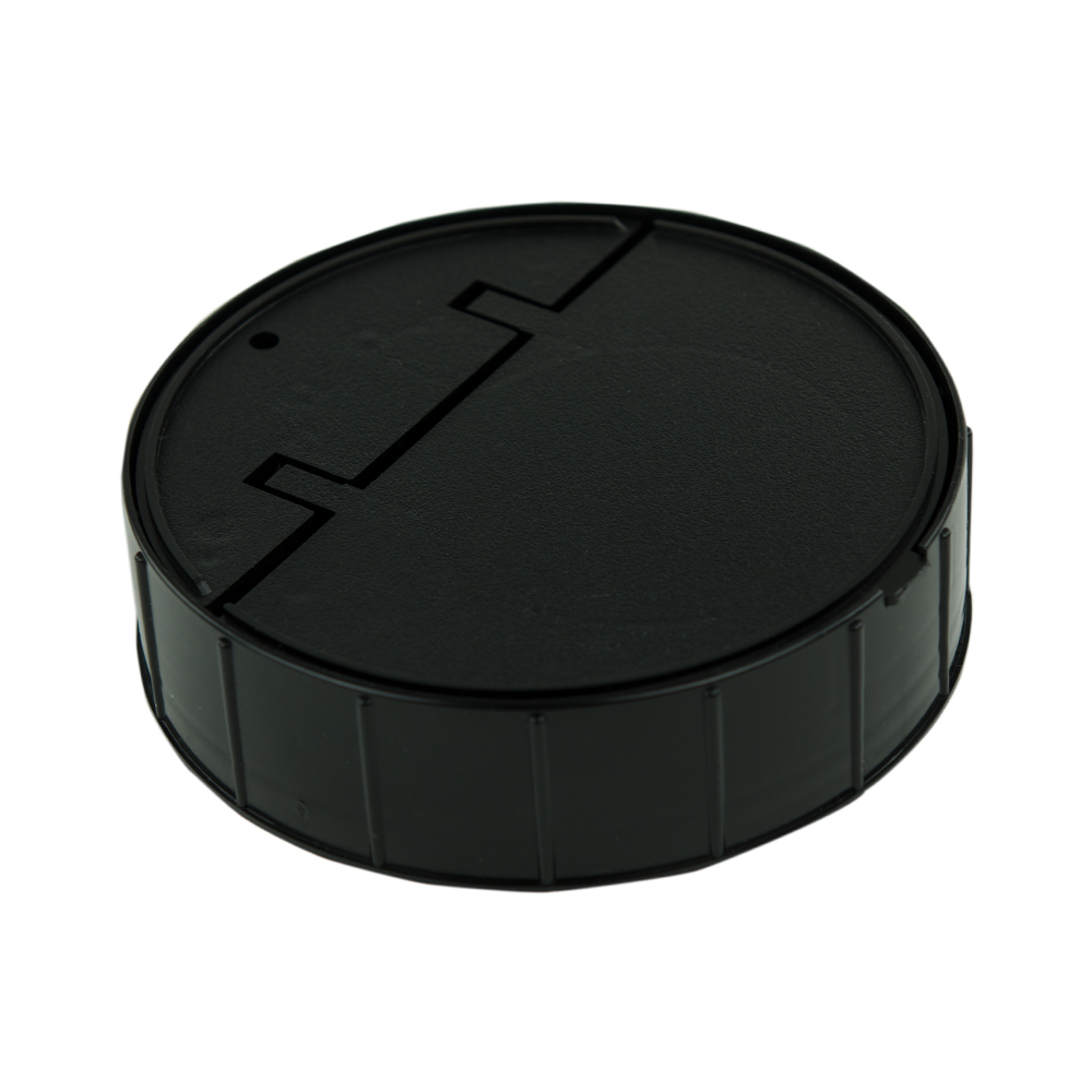 120mm Threaded Cap with Spring for Towel Wipe Canister- Black