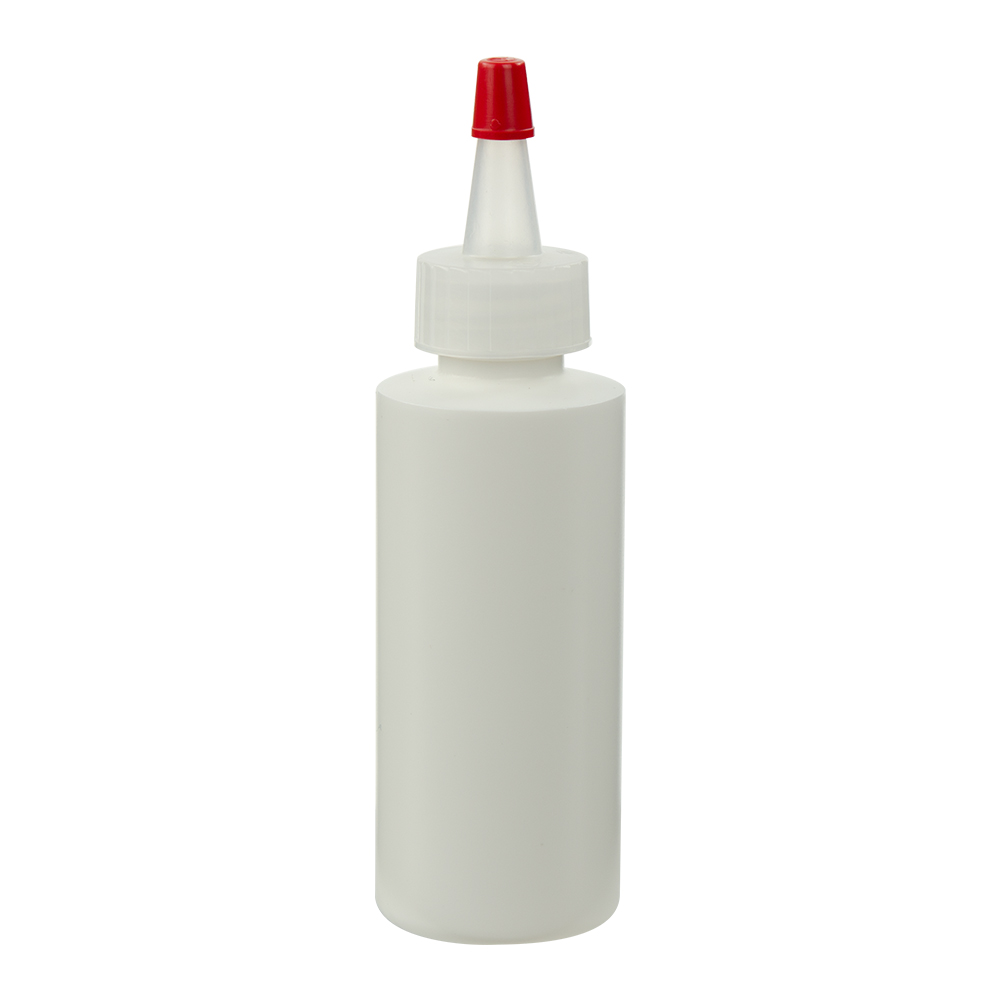 4 oz. White Cylindrical Sample Bottle with 24/410 White Yorker Cap