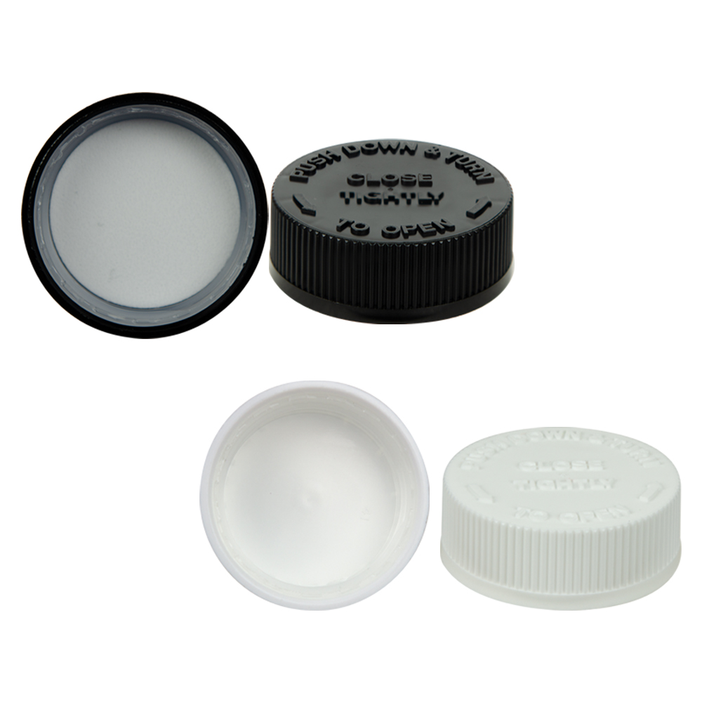 Child-Resistant Polypropylene Caps