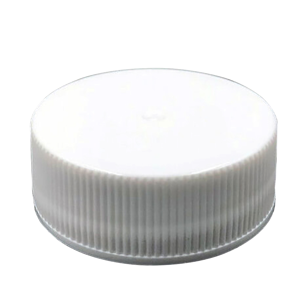 28/400 White Polypropylene Unlined Ribbed Cap