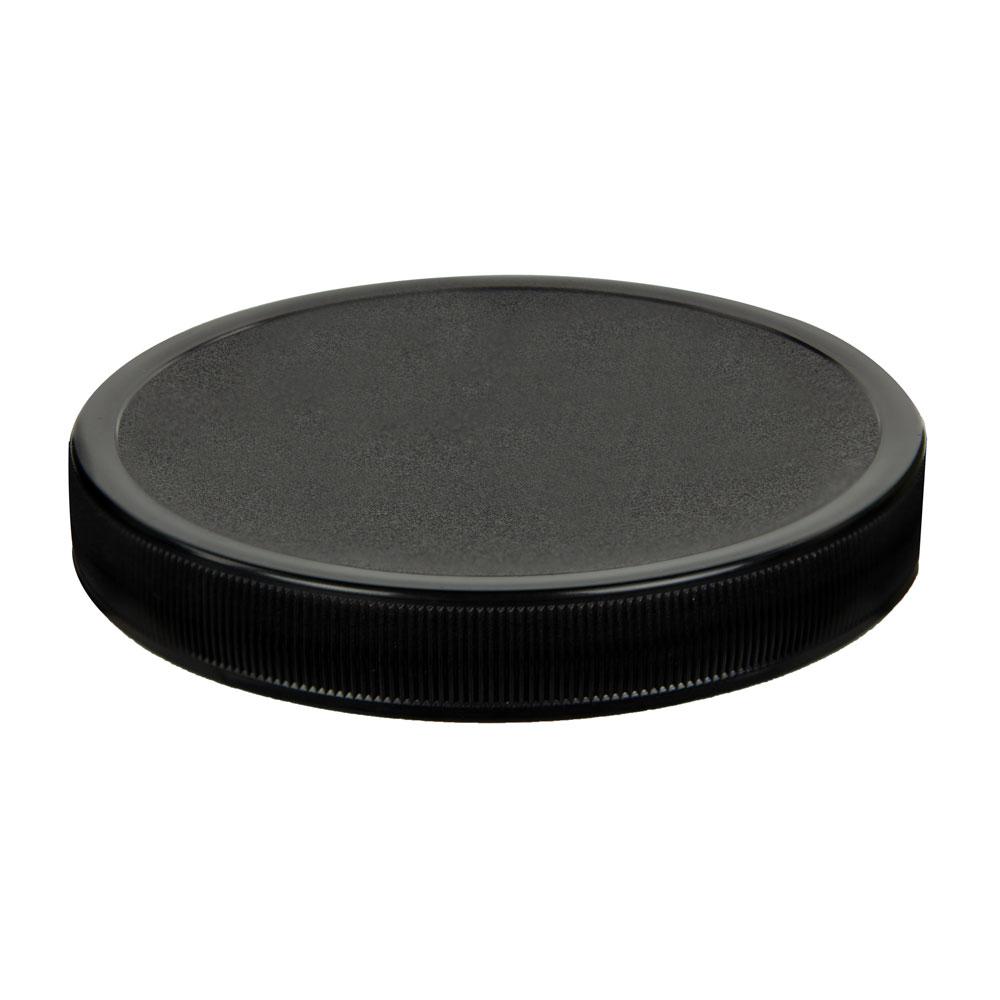 110/400 Black Polypropylene Unlined Ribbed Cap