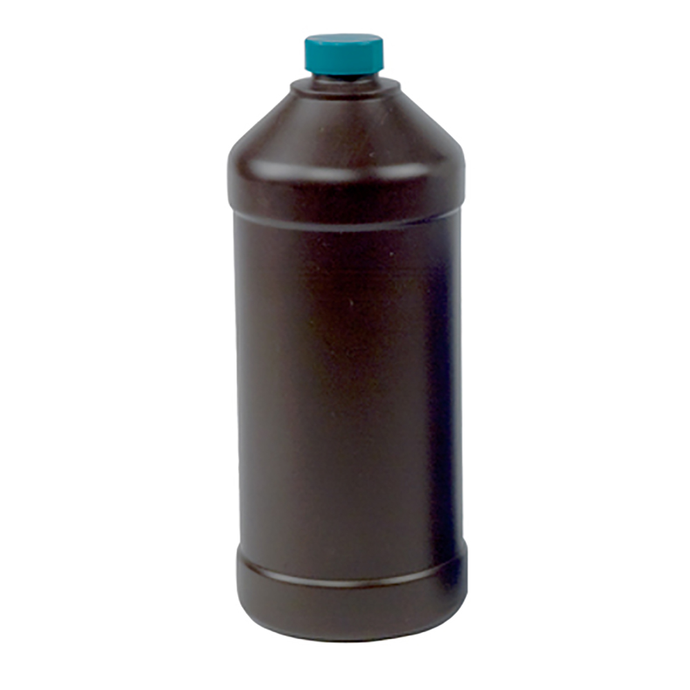 32 oz. Amber Hydrocarbon Barrier Bottle with 28mm Cap