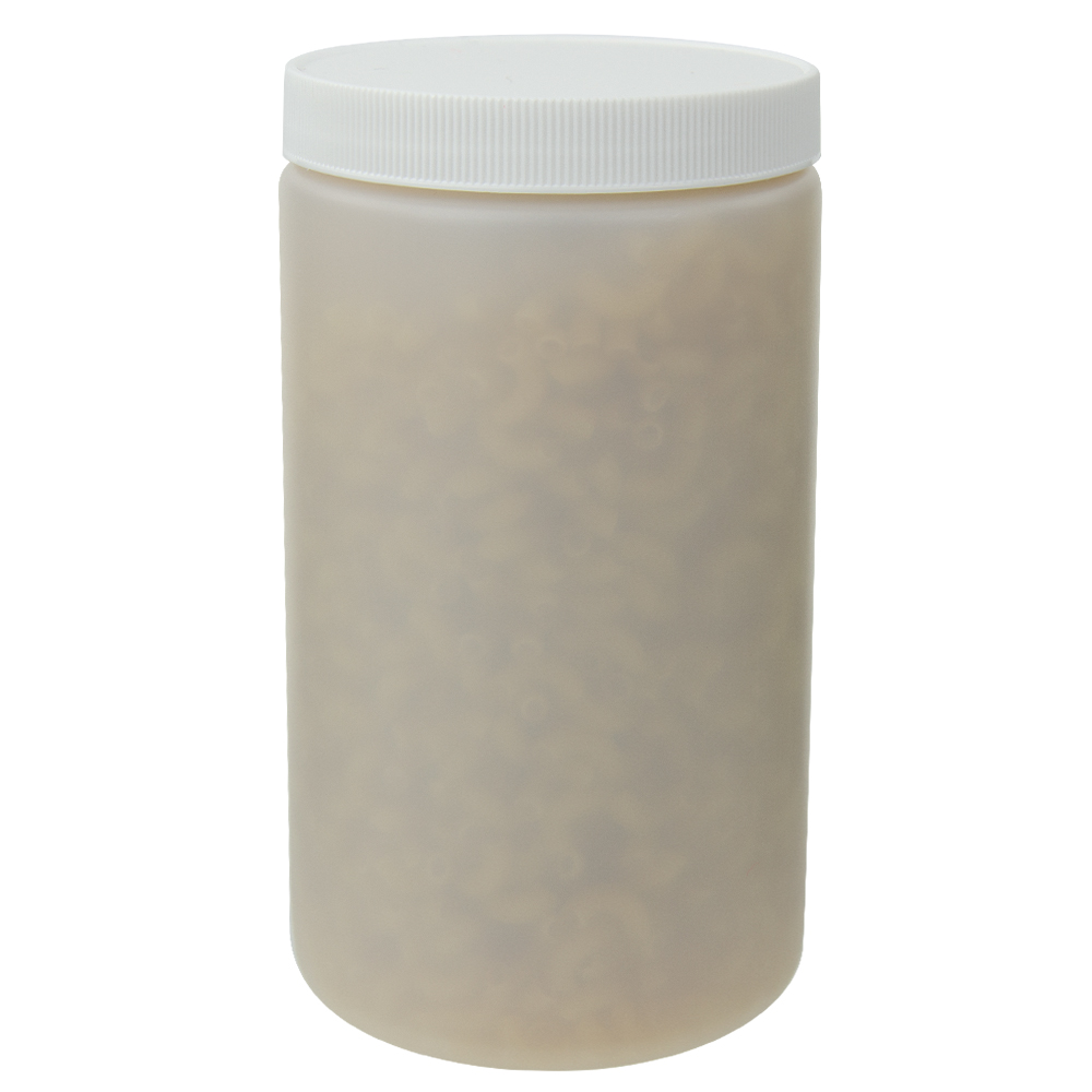 32 oz. Natural Straight Sided Jar with 89/400 Cap