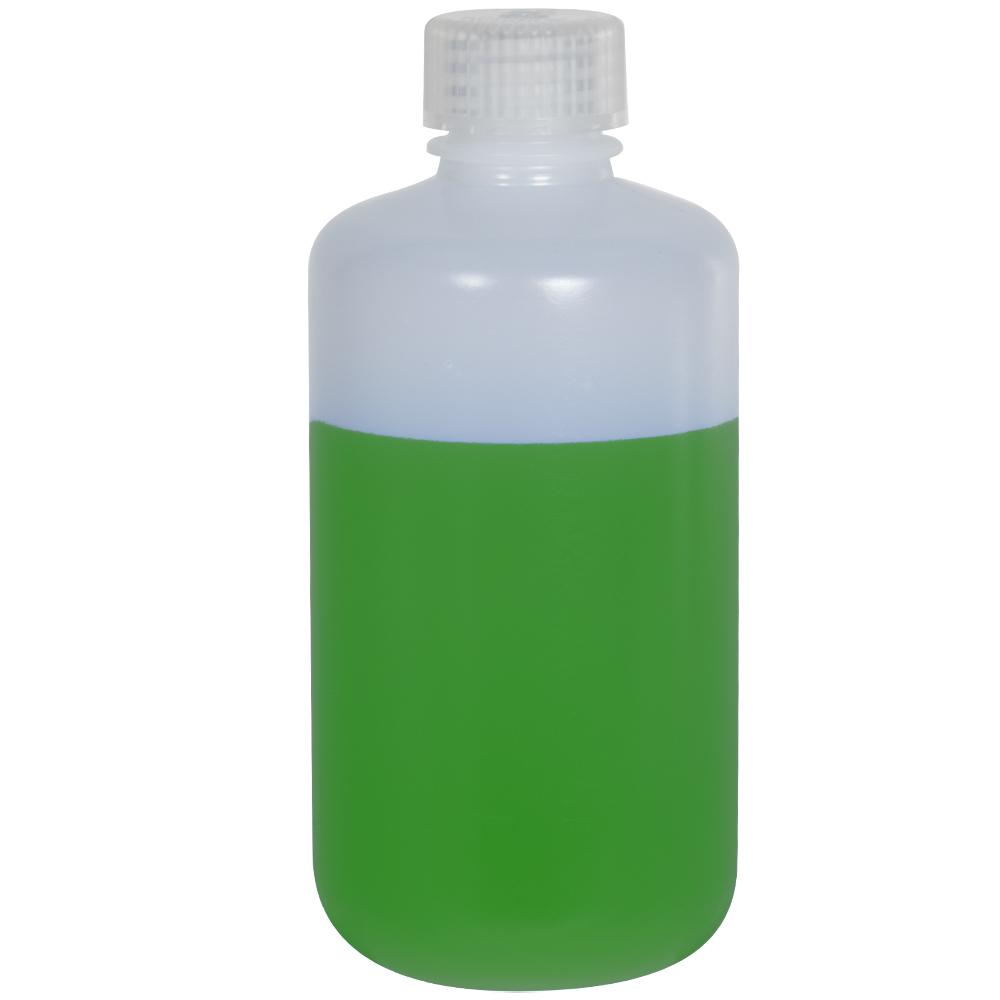 8 oz./250mL Nalgene™ Narrow Mouth Pass-Port IP2 HDPE Shipping Bottle with 24mm Cap