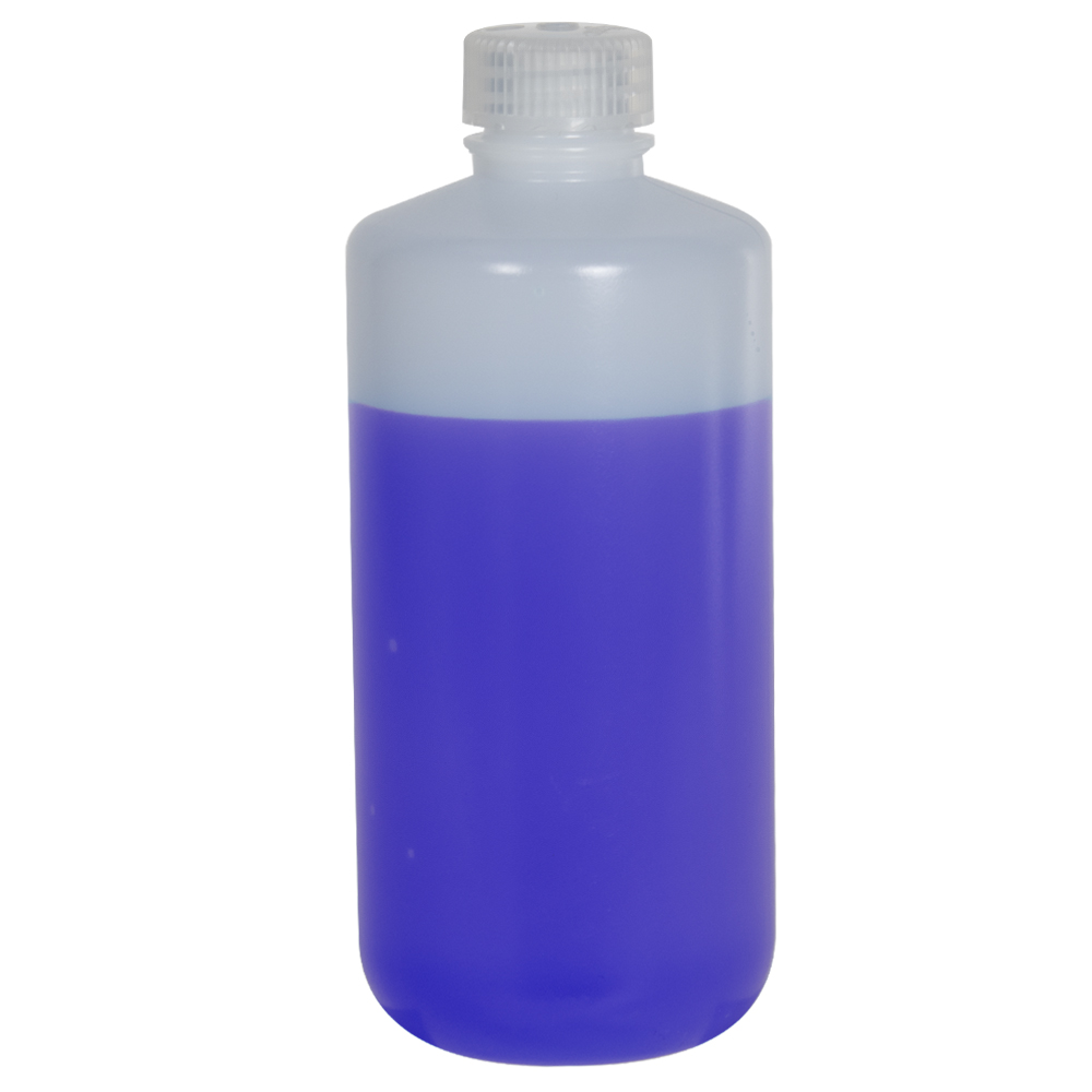 16 oz./500mL Nalgene™ Narrow Mouth Pass-Port IP2 HDPE Shipping Bottle with 28mm Cap