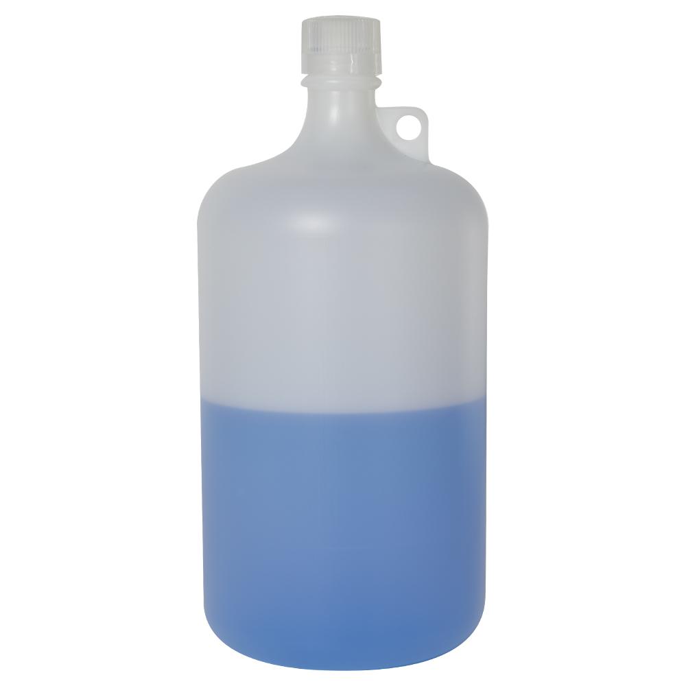 128 oz./4000mL Nalgene™ Narrow Mouth Pass-Port IP2 HDPE Shipping Bottle with 38mm Cap