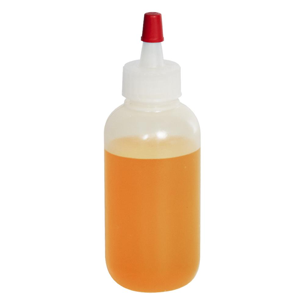 2 oz. LDPE Boston Round Bottle with 18/400 Yorker Dispensing Cap