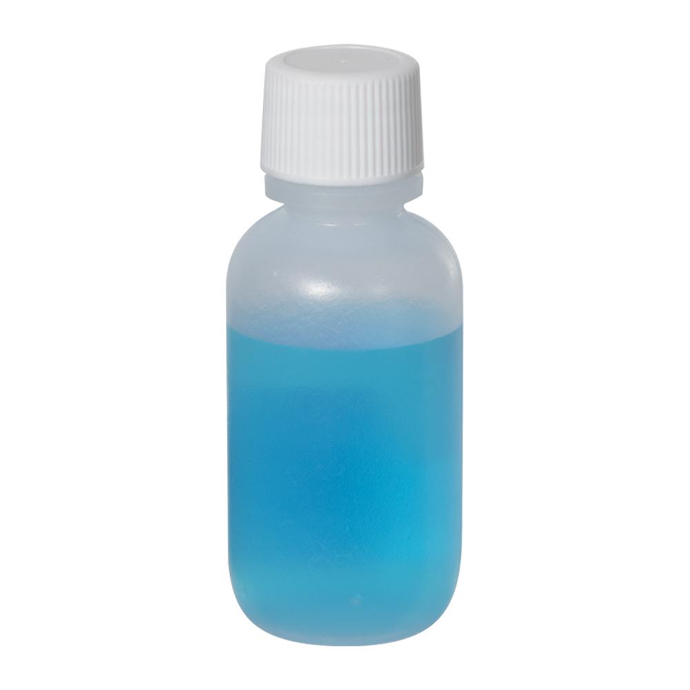 1 oz. LDPE Boston Round Bottle with 18/410 Plain Cap