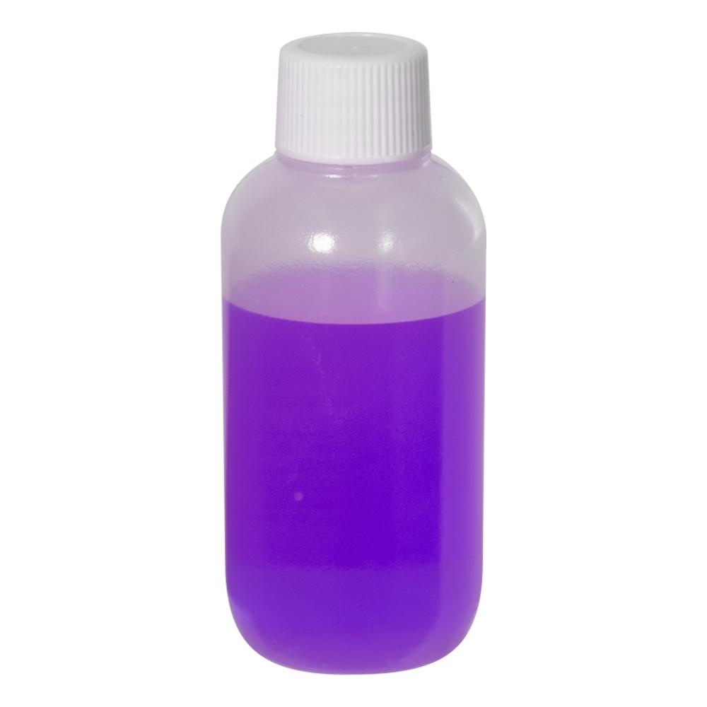 2 oz. LDPE Boston Round Bottle with 18/410 Plain Cap