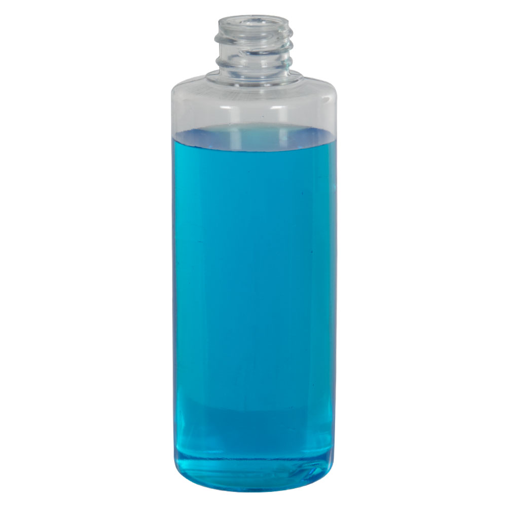 4 oz. Clear PVC Cylindrical Bottle with 20/410 Neck (Cap Sold Separately)
