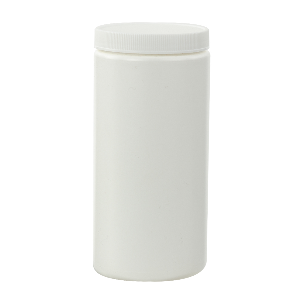 16 oz. White Straight Sided Jar with 70/400 Cap