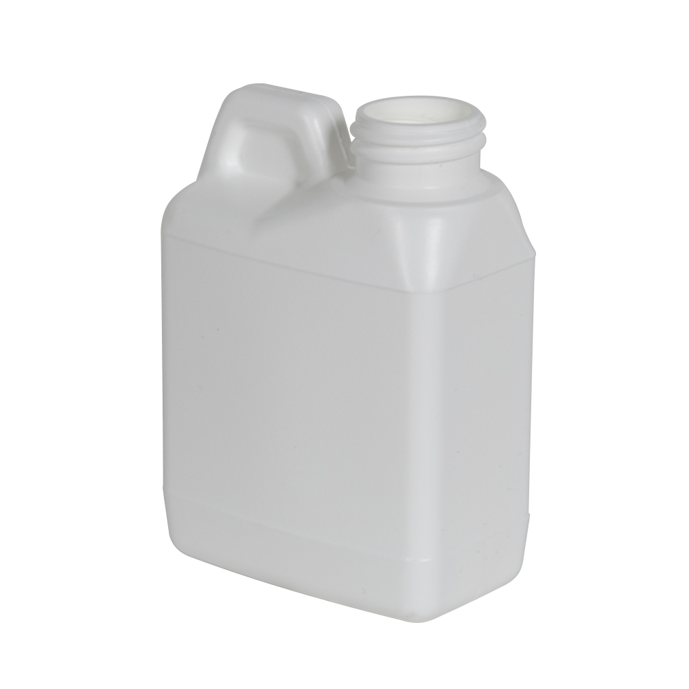 4 oz. White HDPE F-Style Jug with 24/400 Neck (Cap Sold Separately)